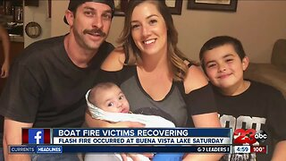 Boat fire victims recovering in burn center