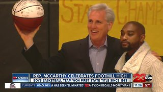 Kevin McCarthy honors state champs
