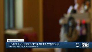 Hotel housekeeper gets COVID-19
