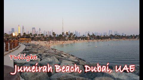 Twilight Jumeirah Beach, Dubai, UAE | บรรยากาศชายหาดดูไบยามเย็น