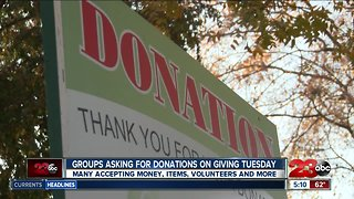 Organizations asking for money, items, volunteers and more on Giving Tuesday