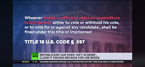 Nevada non profit give aways for votes is illegal