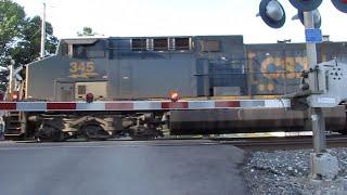 CSX Intermodal/Manifest Mixed Freight Train plus Wheeling & Lake Erie Train From Creston, Ohio