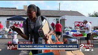 Teachers helping teachers with supplies in Tulsa