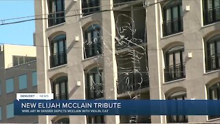 Elijah McClain tribute art in downtown Denver