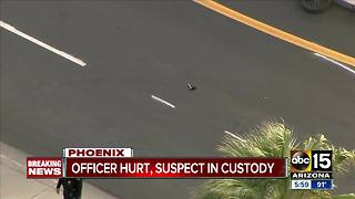 Phoenix officer hurt after shooting with suspect