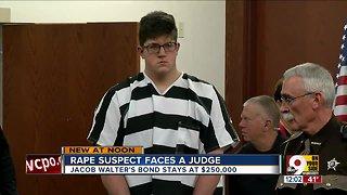 Rape suspect faces a judge