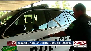 Claremore police applications open until tomorrow