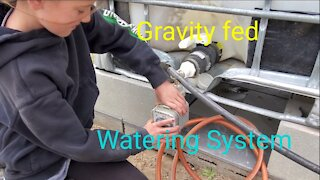 Off-grid Gravity fed Watering System