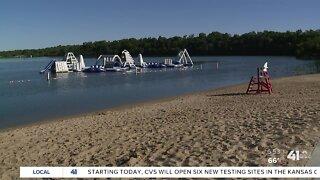 Lake Olathe Park opens sprayground, swim beach Friday