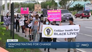 Collier County Youth for Black Lives holds demonstration for change.