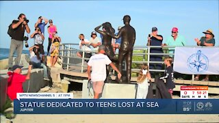 Jupiter statue honors two teens lost at sea
