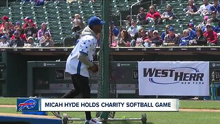 Bills player Micah Hyde holds charity softball game