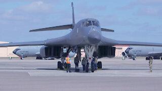 B-1 Arrival At MacDill Air Force Base