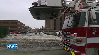 Oxygen tank explosion causes fire