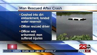 Man rescued after crash