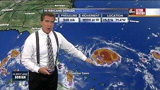Hurricane Dorian remains Cat. 4 storm, 140 mph