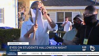 Eyes on San Diego State students Halloween night