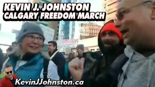 Kevin J Johnston And The Great People Of Calgary March Downtown Part 1