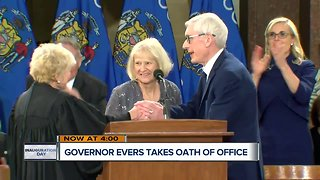 Tony Evers sworn in as Wisconsin's next governor