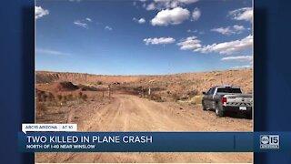 NCSO: 2 people dead after a plane crash near Winslow