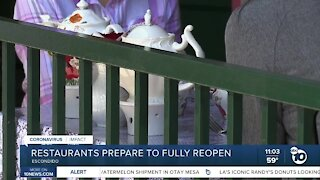 Restaurants prepare to fully reopen