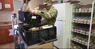 Arizona Guard stocks food at Williams Food Bank