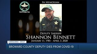 Broward County deputy dies from coronavirus