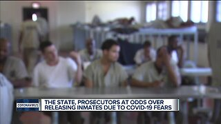 The state, prosecutors at odds over releasing inmates due to COVID-19 fears