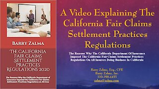 California fair Claims Settlement Practices Regulations