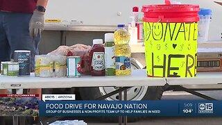 Food drive for Navajo Nation