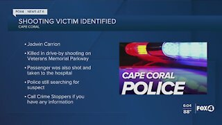 Cape Coral Police release identity of drive by shooting victim