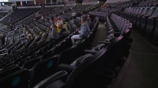 Fans return to Ball Arena to watch Nuggets after more than a year