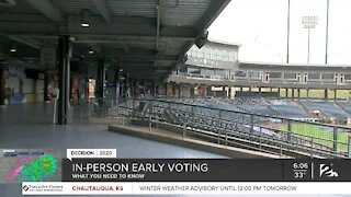What you need to know about in person early voting