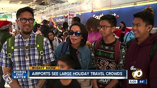 San Diego Family travels only on stand-by during holiday travel