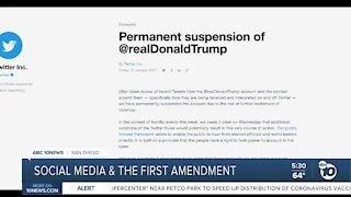Social media and the First Amendment
