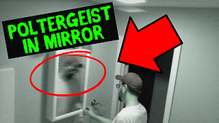 Security camera captures poltergeist in mirror