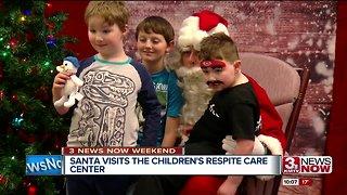 Santa visits Children's Respite Care Center