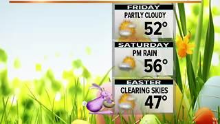 Wet Thursday. Cool Easter Weekend