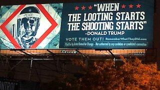 Artist designs anti-Trump billboard ahead of presidential debate