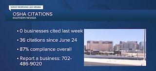 OSHA citations for Nevada businesses
