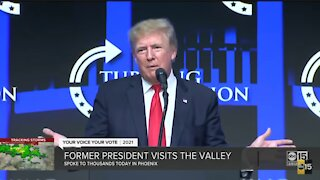 Former President Trump visits the Valley