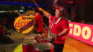 Chiefs Rumble performs at P&L watch party