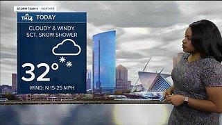 Clouds and wind stick around Wednesday
