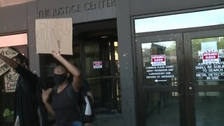 More protesters attempt to halt the violent individuals in Cleveland