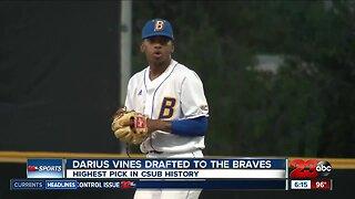 Junior pitcher Darius Vines becomes CSUB's highest draft pick