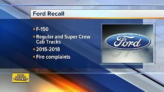 FORD RECALL: 2 million trucks recalled for seat belt issue that could cause fire