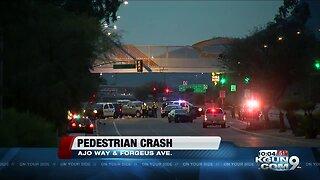 Police investigate deadly crash involving a pedestrian on Ajo at Forgeus Avenue