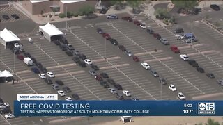 Thousands of people wait in line for COVID testing