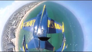 Blue Angles Flying over Pensacola FL As Seen From One of the Cockpits